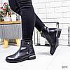 Ботинки женские Jersey черные  8891 зима
