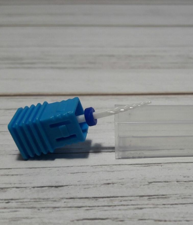 Фреза керамическая игла - 1шт синяя