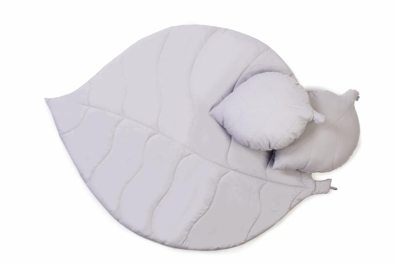 Коврик лепесток c подушками Gray