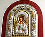 Ангел Хранитель 29х24см греческая икона в серебряной рамке с павлинами, фото 5