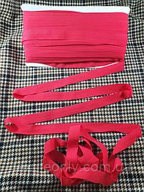 Трикотажна бейка стрейч матовий колір червоний 20 мм
