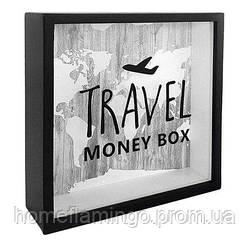 Деревянная копилка для денег Travel money box