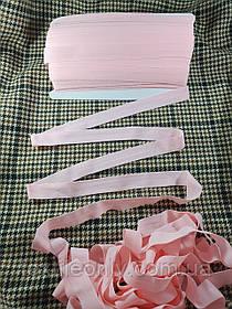 Трикотажна бейка стрейч матовий колір рожевий 20 мм