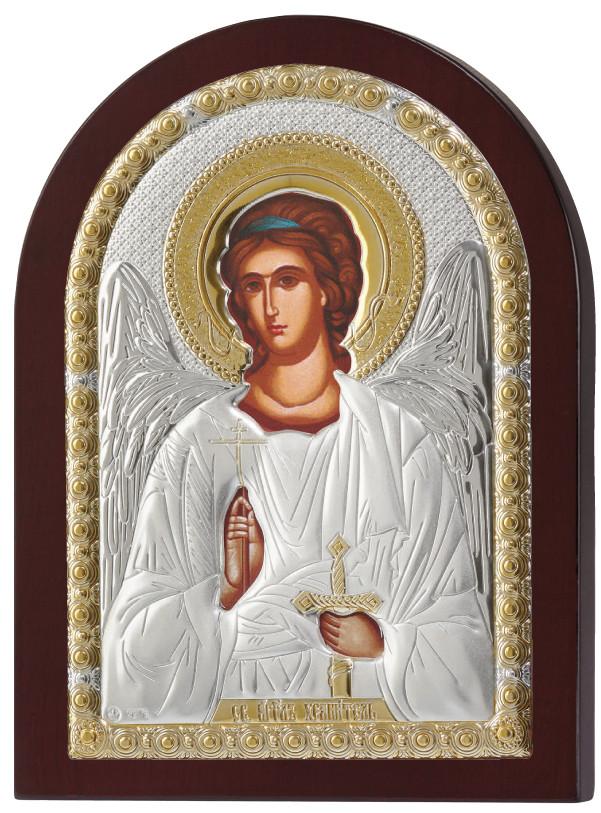 Ангел Хранитель 15х19см греческая серебряная икона