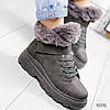 Ботинки женские Mistory серые 9098
