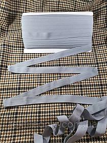 Трикотажна бейка стрейч матовий колір сірий 20 мм