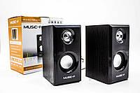 Компьютерные колонки Music-F D-093, Деревянные колонки акустика от USB порта, Колонки для ПК, ноутбука