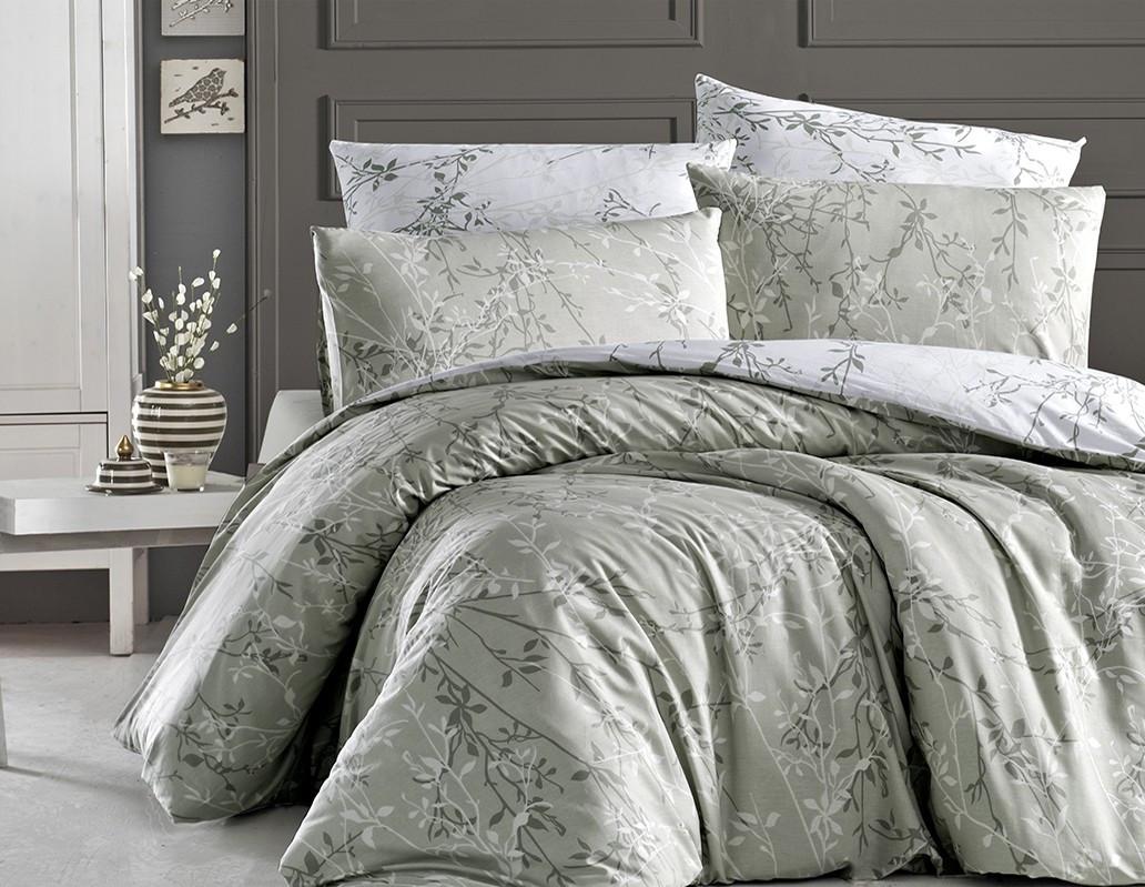 Комплект постельного белья First Choice Ранфорс 200x220 Zena yesil