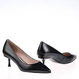 Женские кожаные туфли  Fabio Monelli S490-60-Y021AK BLACK KOGA весна 2020, фото 3