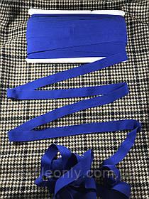 Трикотажна бейка стрейч матовий колір синій 20 мм