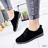 Туфли женские Classic черные замша 9339