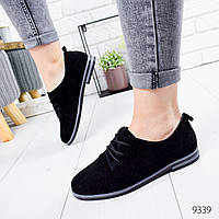 Туфли женские Classic черные замша 9339, фото 1
