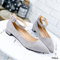 Туфли женские Nicole серые 9361