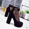 Туфли женские My-shoes черные 9571