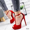 Босоножки женские Cher красные 9600