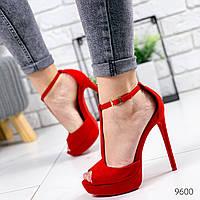 Босоножки женские Cher красные 9600, фото 1