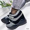 Кроссовки женские Yvonne черный + серый  9254