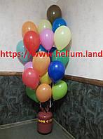 Гелий  в портативном баллоне + шарики 20 штук  в подарок