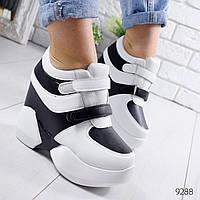 Кроссовки женские Reez черные + белый 9288, фото 1