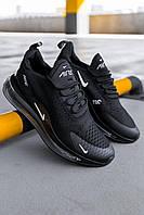 Кроссовки мужские весенние осенние качественные модные Найк Air Max 720/270 Black, фото 1