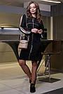 Чёрное молодёжное платье с лампасами, фото 2