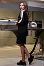 Чёрное молодёжное платье с лампасами, фото 5