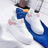 Кроссовки женские For белые+пудра 9411, фото 1