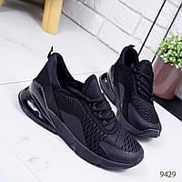 Кроссовки женские N черные 9429, фото 1