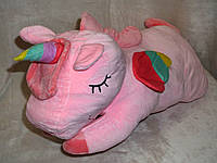 """Плед - мягкая игрушка """"Единорог"""" розовый"""