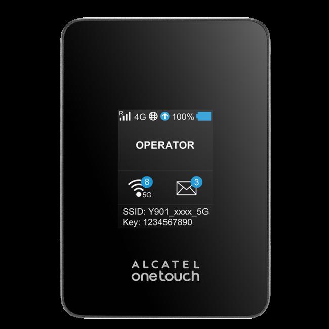 Мобильный роутер 3g/4g Alcatel Link Y901 Черный (451985)