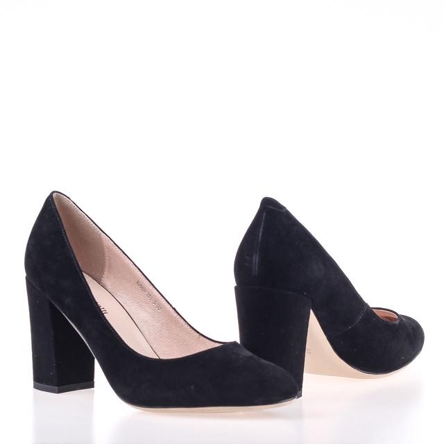 Женские замшевые натуральные туфли  Fabio Monelli K2907-301-3 BLACK ZAMSHA весна 2020