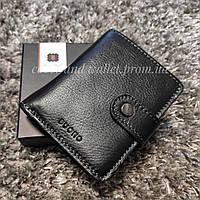 Компактне шкіряне портмоне з висувним механізмом для пластикових карток Buono Leather (чорний)