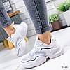 Кроссовки женские Beryl белые + голографик 9444