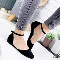 Туфли балетки женские Vella черные 9492, фото 1