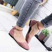 Туфли балетки женские Vella пудра 9493, фото 1