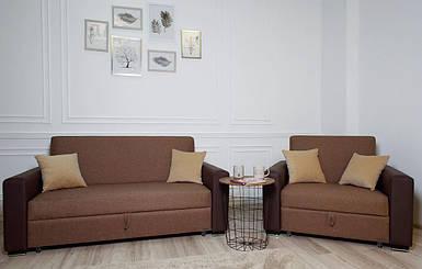 Комплект мягкой мебели Бостон темный