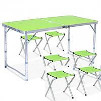 Раскладной стол для пикника с 4 стульями Оранжевый