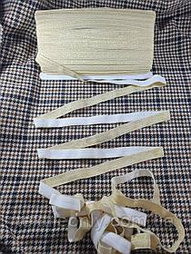 Трикотажна бейка стрейч люрекс колір золото 15 мм