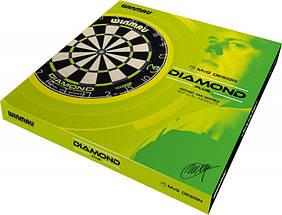 Дартс мишень сизаль Winmau Diamond MvG + дротики+линия для броска, фото 3
