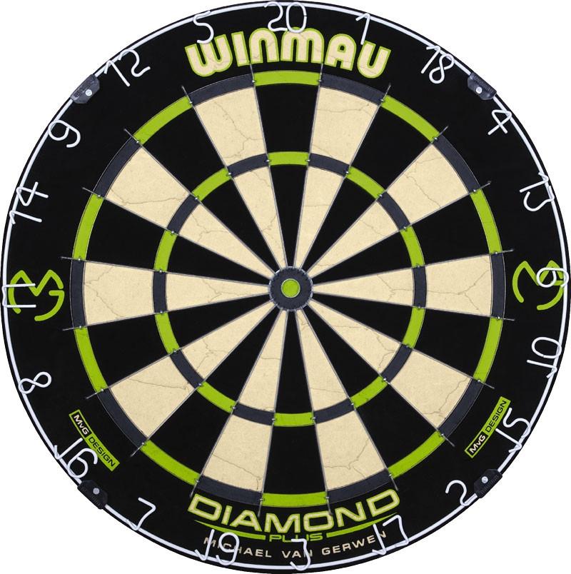 Фирменная  мишень дартс из сизаля WINMAU Diamond Англия + дротики + линия