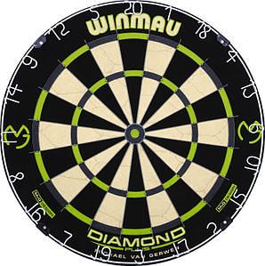 Дартс мишень сизаль Winmau Diamond MvG + дротики+линия для броска
