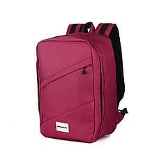 Рюкзак для ручной клади 40х20х25 Wascobags RW Вишневый (Wizz Air / Ryanair), фото 2