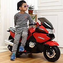 Детский мотоцикл Bambi M 3282 EL EVA колеса, кожаное сидение, mp3