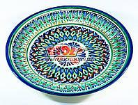 Тарелка узбекская плоская 23х3см, ручная роспись (вариант 4), фото 1