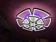 Люстра современная в зал, гостинную, акрил 1264/6+6 364W WT ProСВЕТ