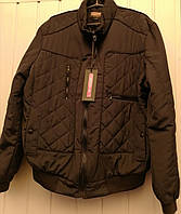 Мужская куртка под резинку, демисезоная черная