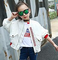 Стильна куртка - бомбер для дівчаток / Детская верхняя одежда на весну и осень, Детская школьная одежда