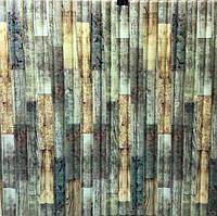 Самоклеющиеся 3D панели бамбук светлый Sticker Wall 700x770x8.5мм