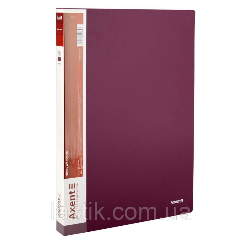 Дисплей-книга 40 файлів (бордо)