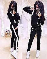 Женский спортивный костюм, костюм для прогулок S/M/L/XL (черный), фото 1